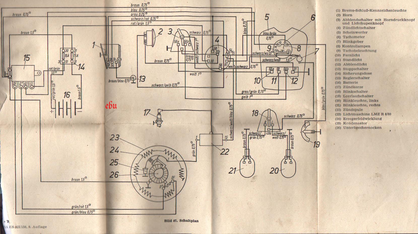 Wunderbar Schaltplan Für 150cc Roller Galerie - Der Schaltplan ...